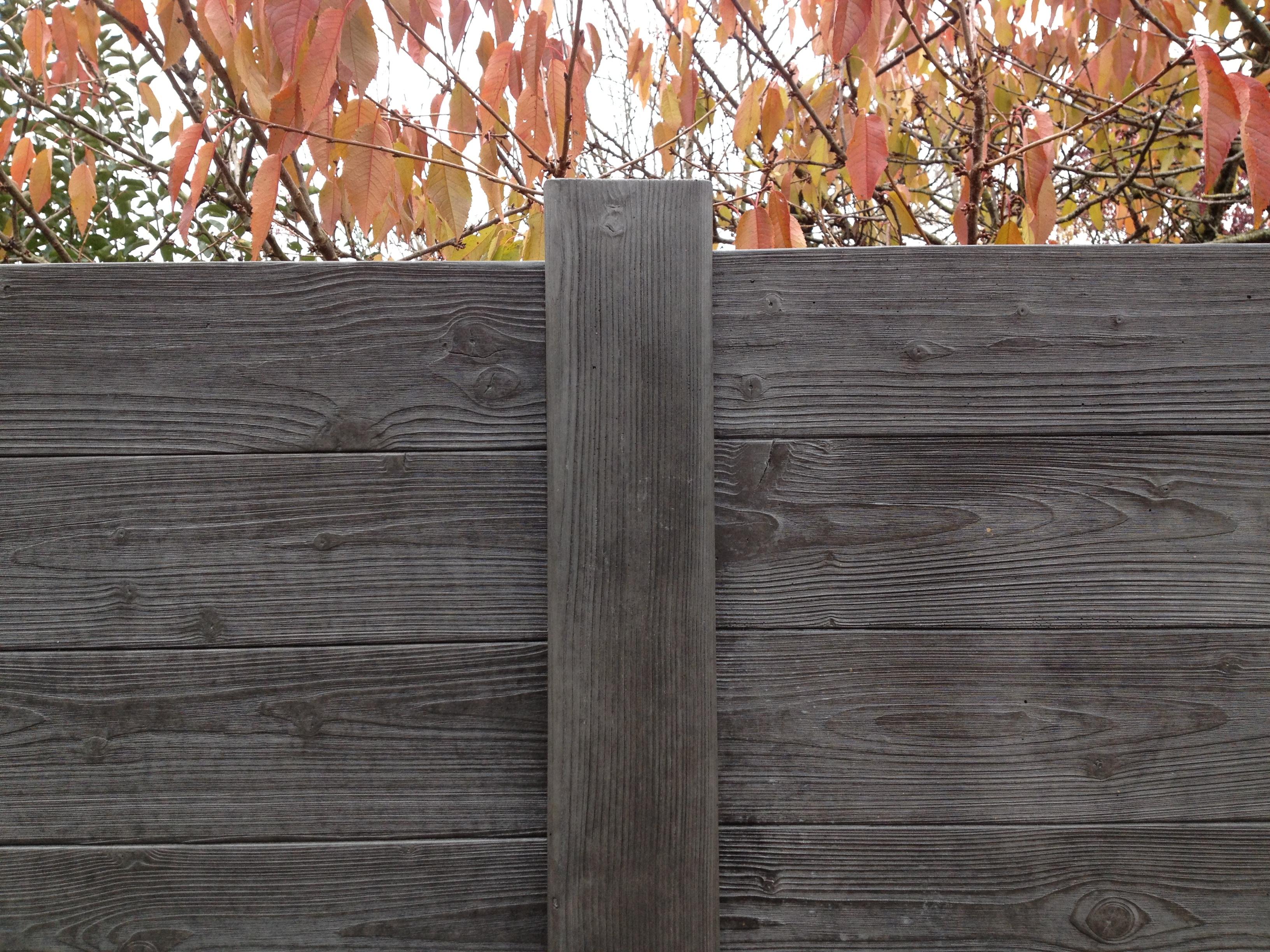 Prix D Un Mur De Cloture En Plaque De Beton clôture imitation bois - modèle bacara - société méhat