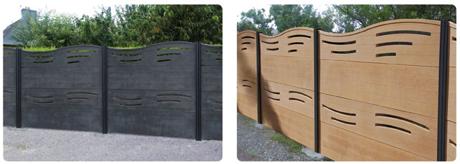 cloture imitation bois mod le calypso soci t m hat. Black Bedroom Furniture Sets. Home Design Ideas