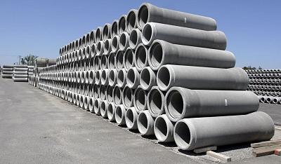 Stockage des tuyaux en béton
